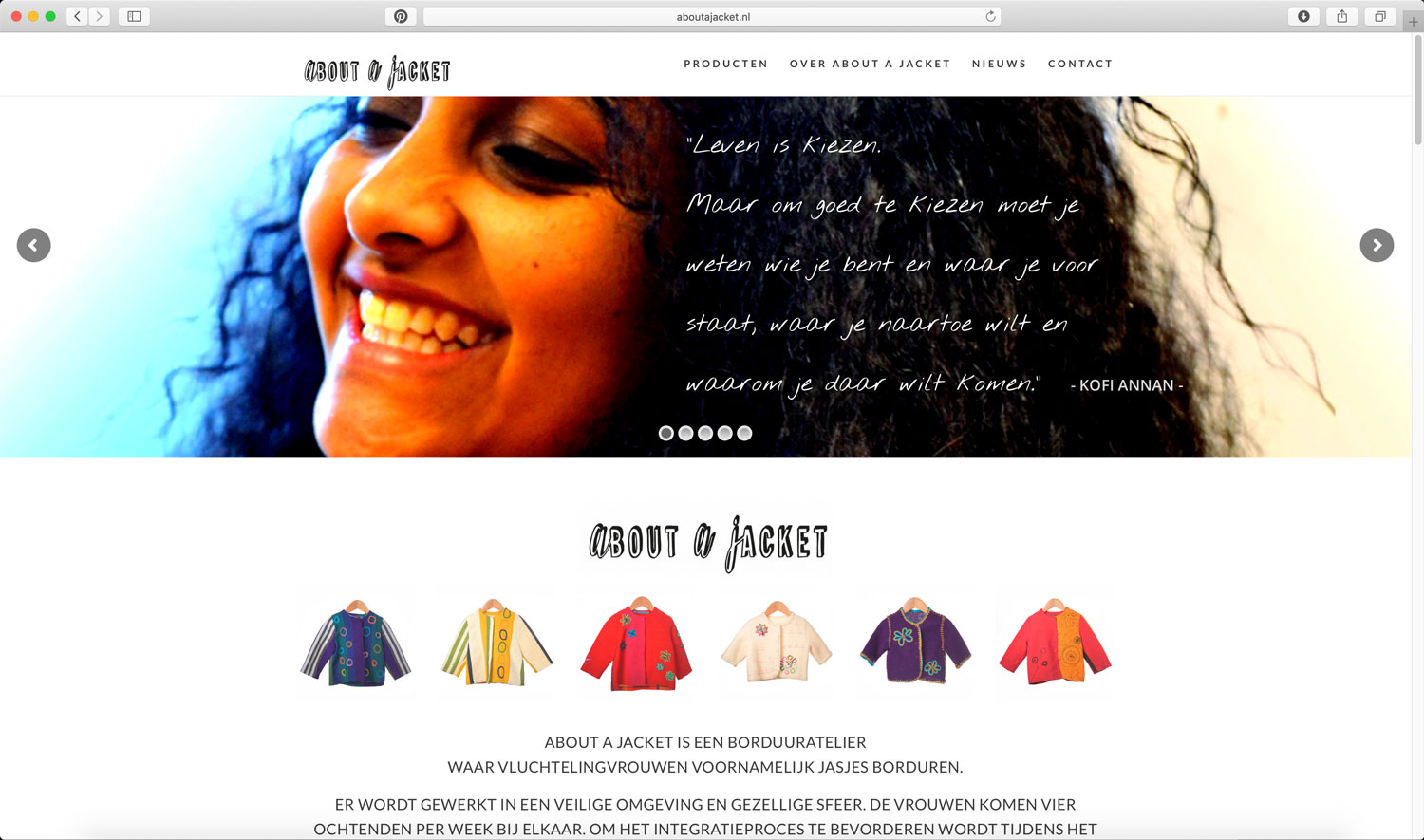 homepage About A Jacket